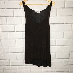 Daydreamer Black and Metallic Gold Tunic Top (M)
